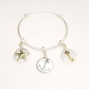Beach Inspirational Quote Simple Charm Bracelet